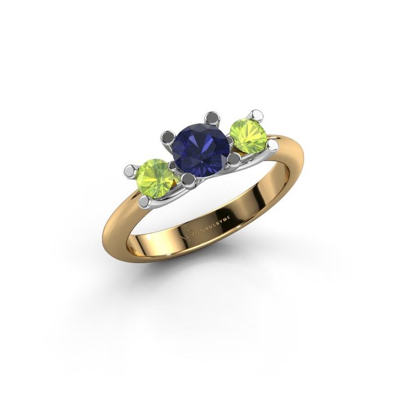 Ring Mirthe 585 Gold Saphir 5 mm