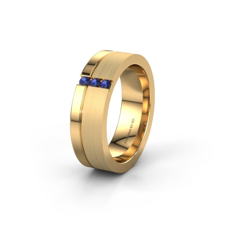 Wedding ring WH0327L16B 585 gold sapphire ±0.24x0.08 in