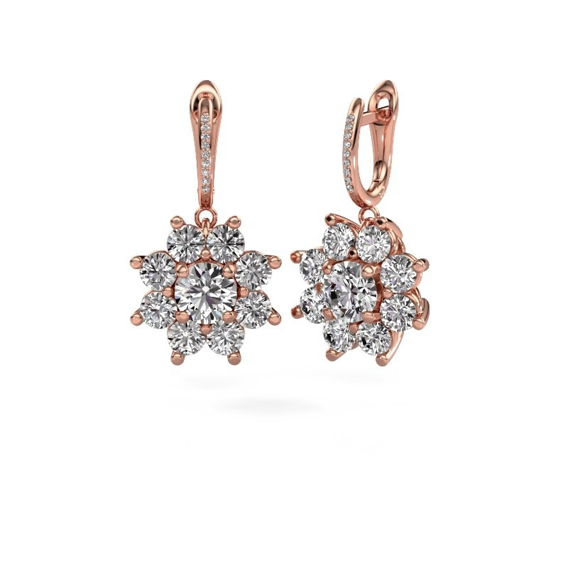 Oorhangers Camille 2 375 rosé goud diamant 6.045 crt