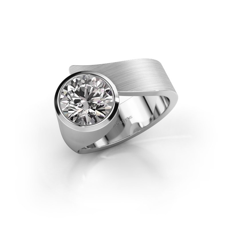 Ring Nakia 950 platina zirkonia 8 mm