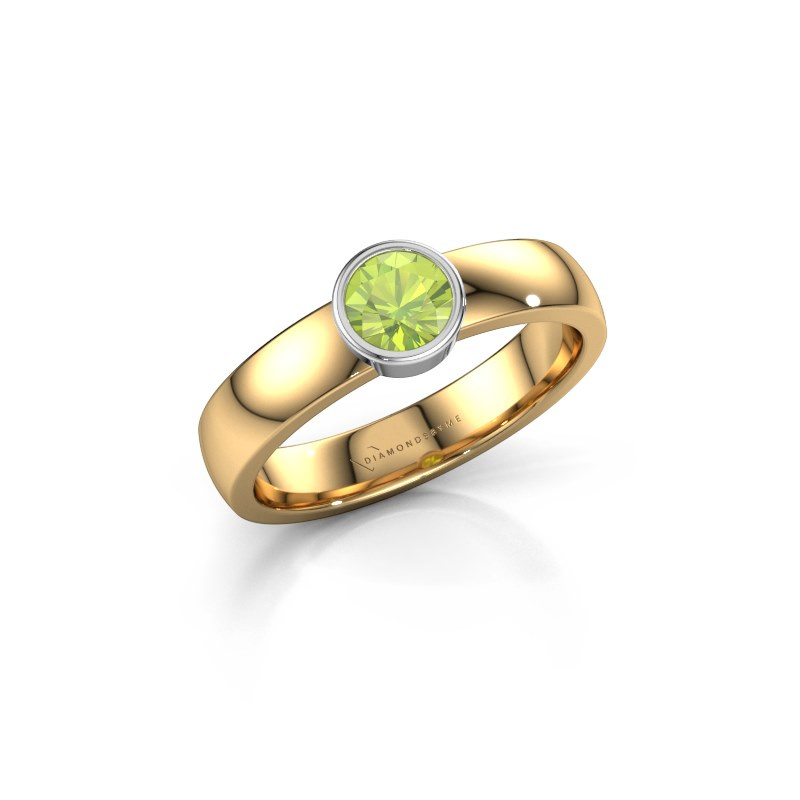 Ring Ise 1 585 gold peridot 4.7 mm
