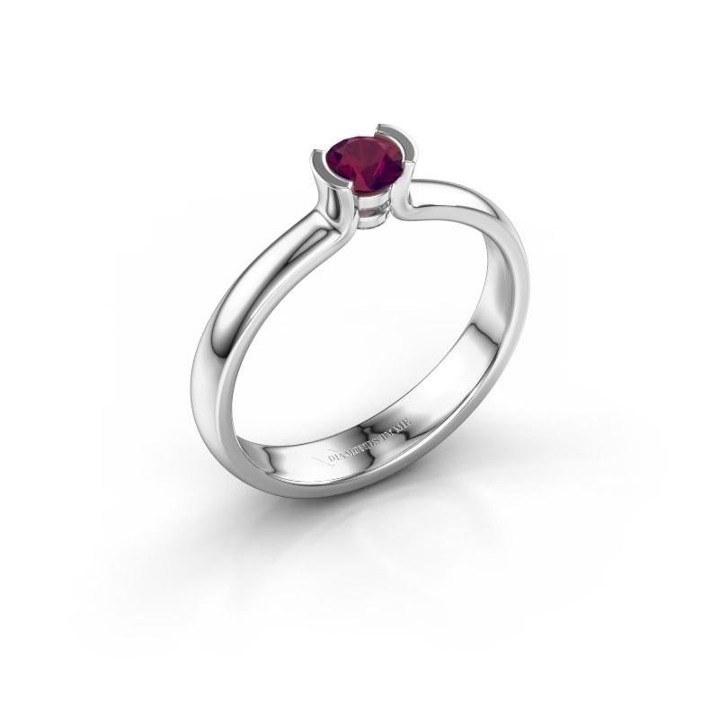 Engagement ring Ophelia 585 white gold rhodolite 4 mm