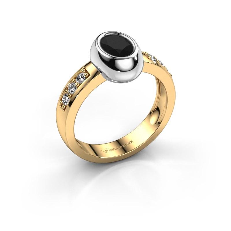 Ring Charlotte Oval 585 gold black diamond 1.23 crt