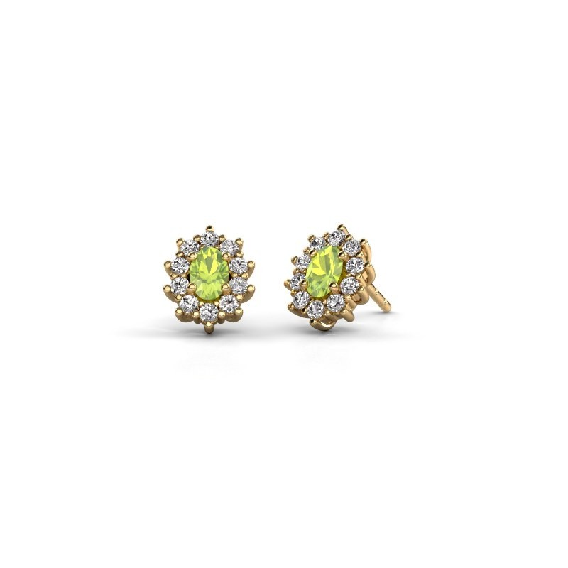 Ohrringe Leesa 375 Gold Peridot 6x4 mm