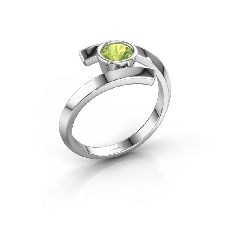 Ring Mara 950 platina peridoot 5 mm