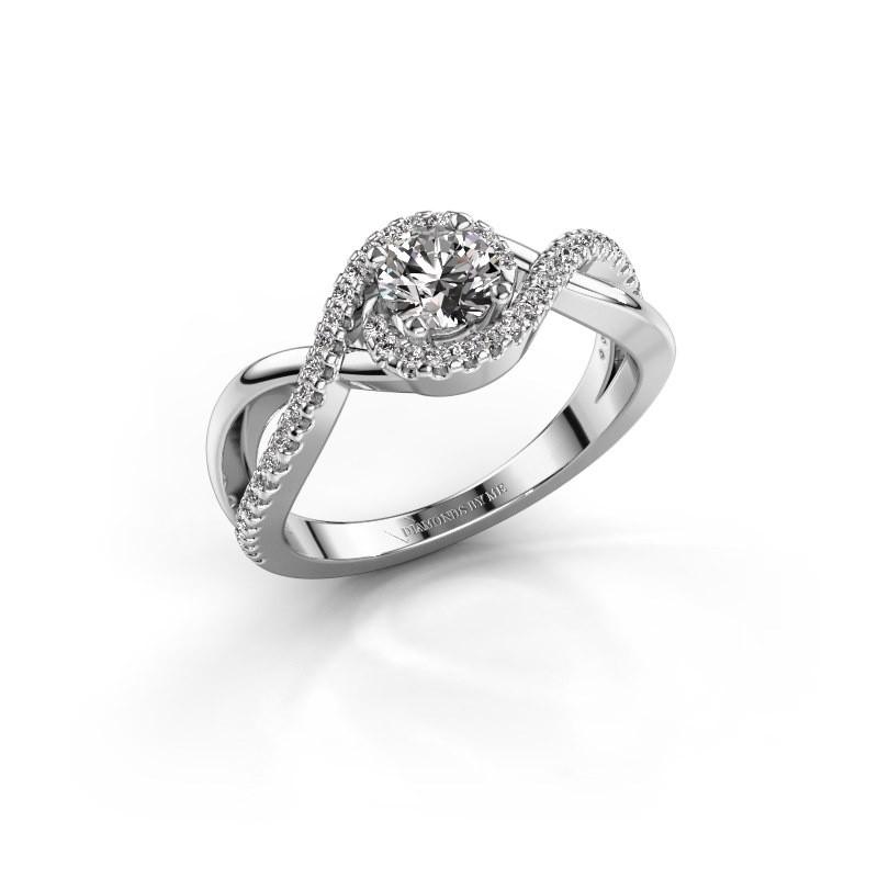 Verlovingsring Melody 585 witgoud diamant 0.50 crt