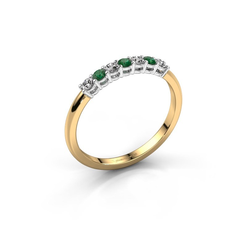 Verlobungsring Michelle 7 585 Gold Smaragd 2 mm