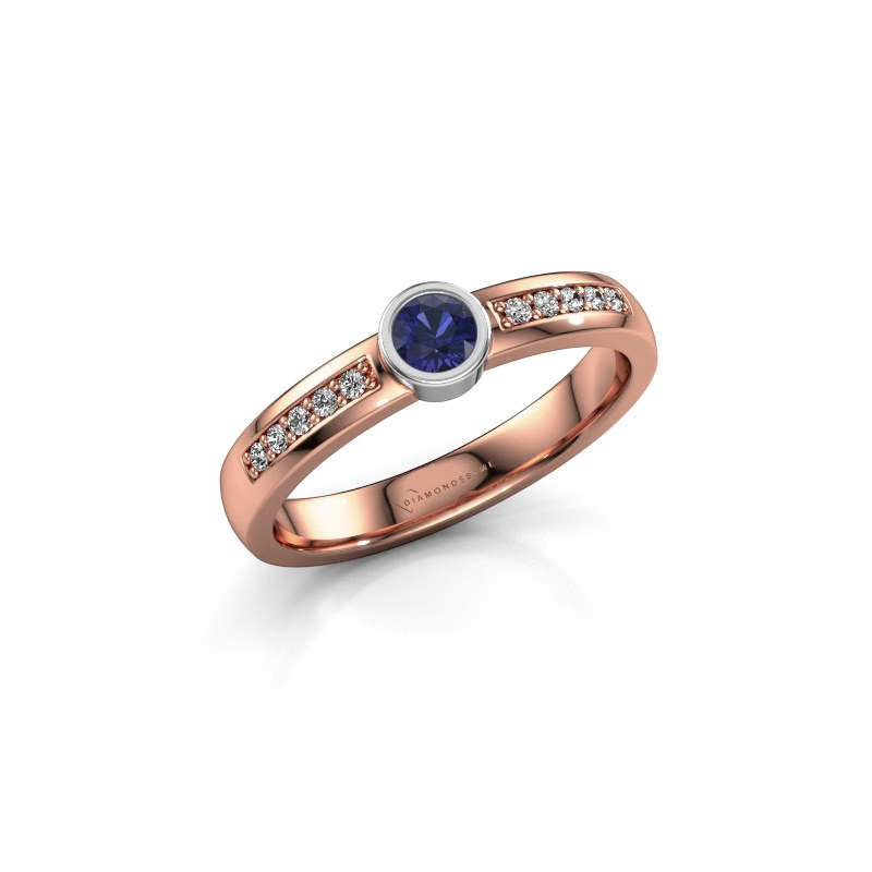 Engagement ring Ise 2 585 rose gold sapphire 3.7 mm