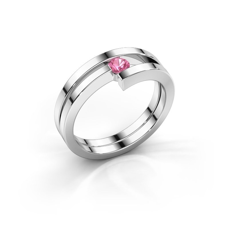 Ring Nikia 950 platina roze saffier 3.4 mm
