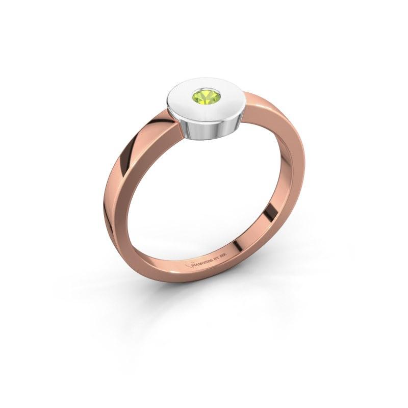 Ring Elisa 585 rose gold peridot 3 mm