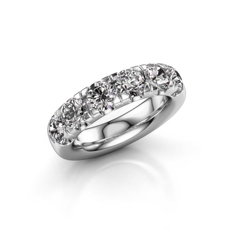 Vorsteckring Jackie Half 950 Platin Diamant 2.40 crt
