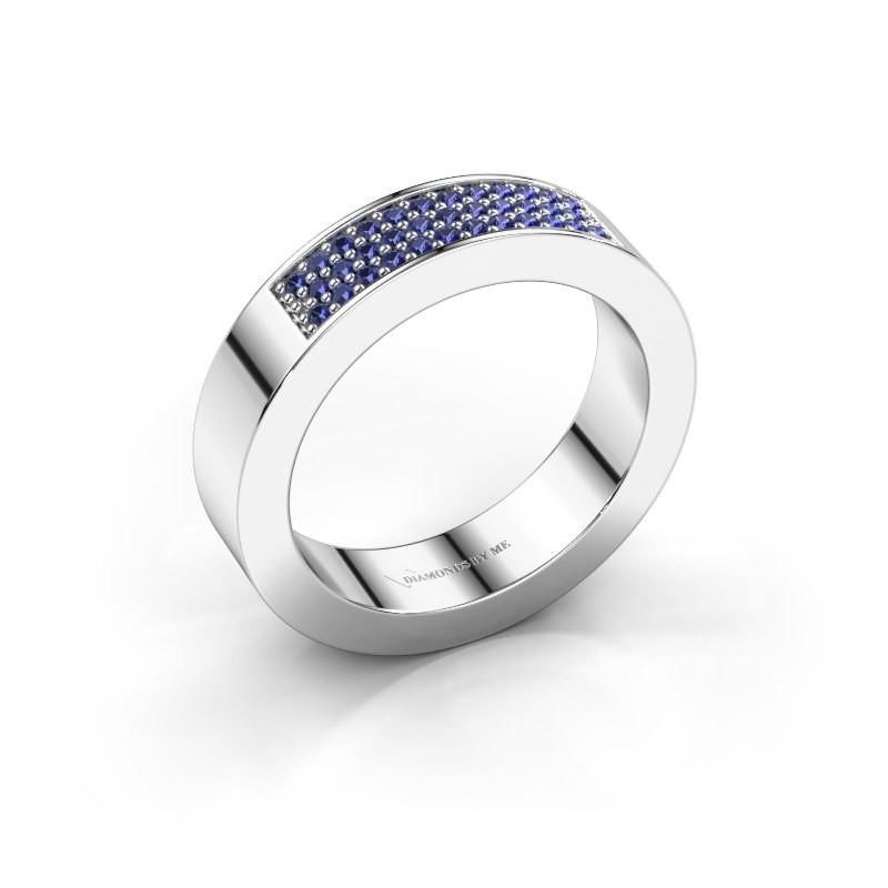 Ring Lindsey 1 950 platina saffier 1.1 mm