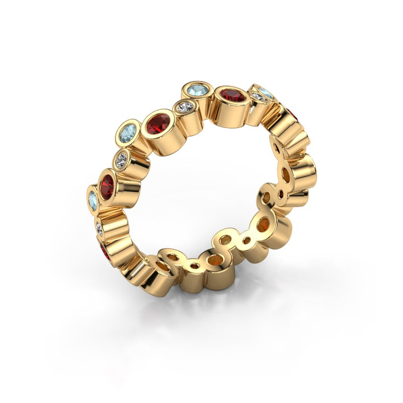 Ring Tessa 585 goud granaat 2.5 mm
