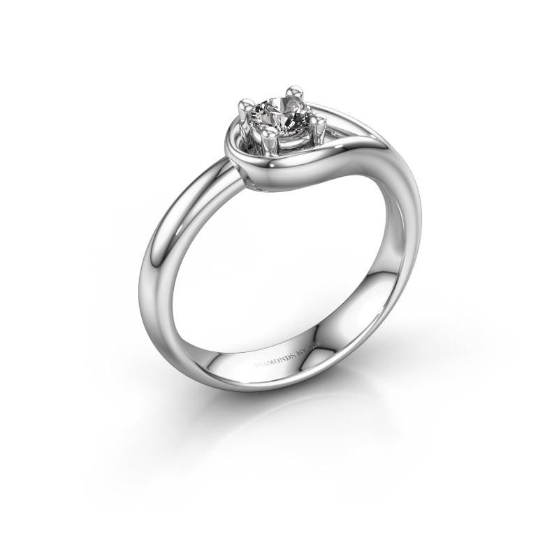 Ring Fabienne 950 platinum zirconia 4 mm
