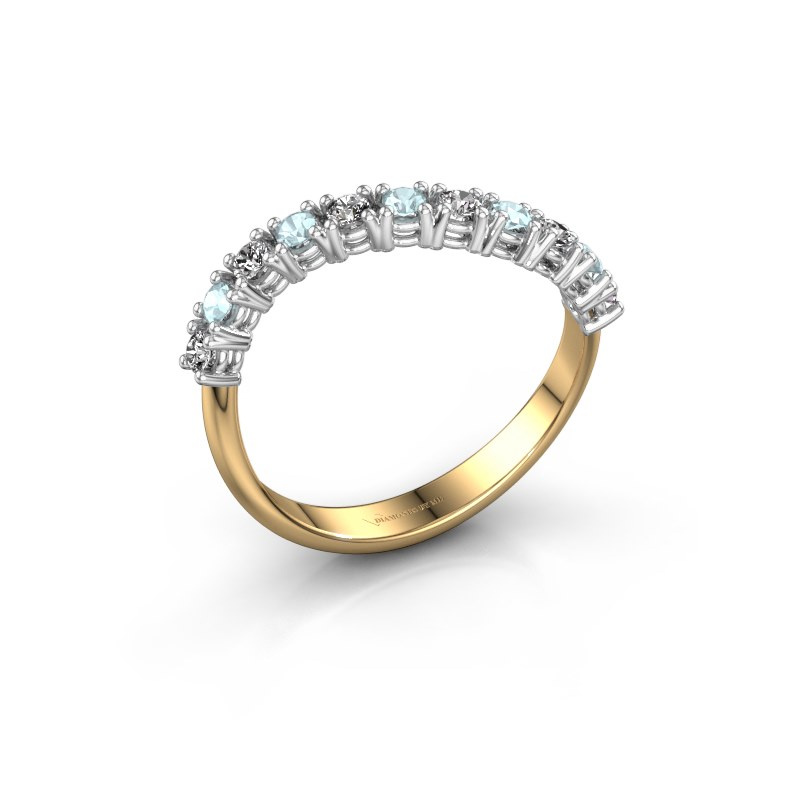 Ring Eliza 585 goud zirkonia 2 mm