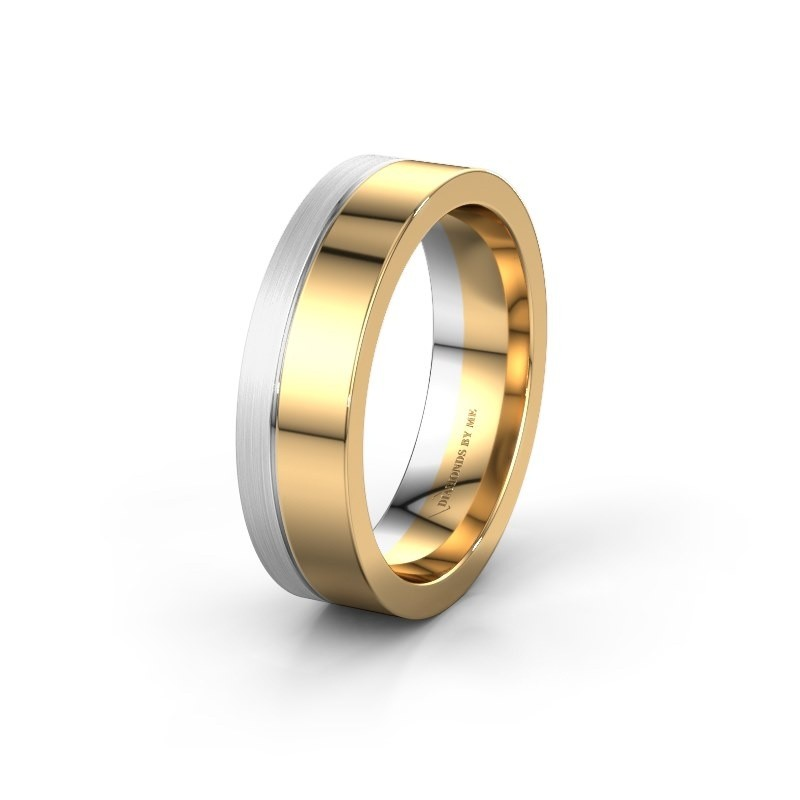 Wedding ring WH0329M16B 585 gold ±0.24x0.08 in