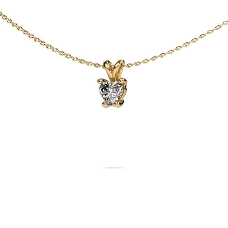 Ketting Sam Heart 375 goud lab-grown diamant 0.50 crt