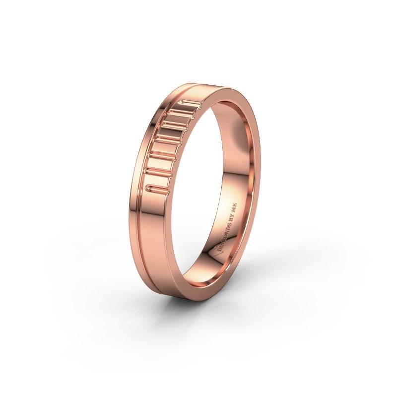 Trouwring WH0332M14X 585 rosé goud ±4x1.5 mm