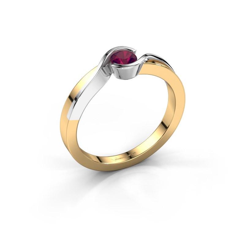Ring Lola 585 gold rhodolite 4 mm
