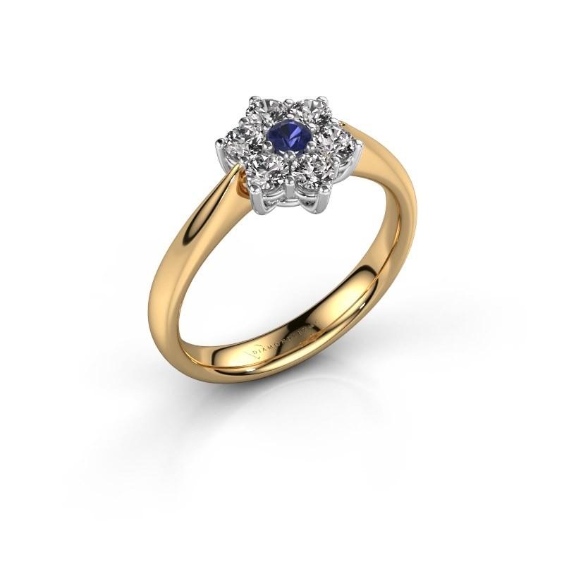 Verlobungsring Chantal 1 585 Gold Saphir 2.7 mm