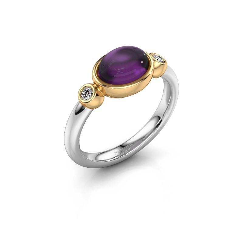 Ring Liane 585 white gold amethyst 8x6 mm
