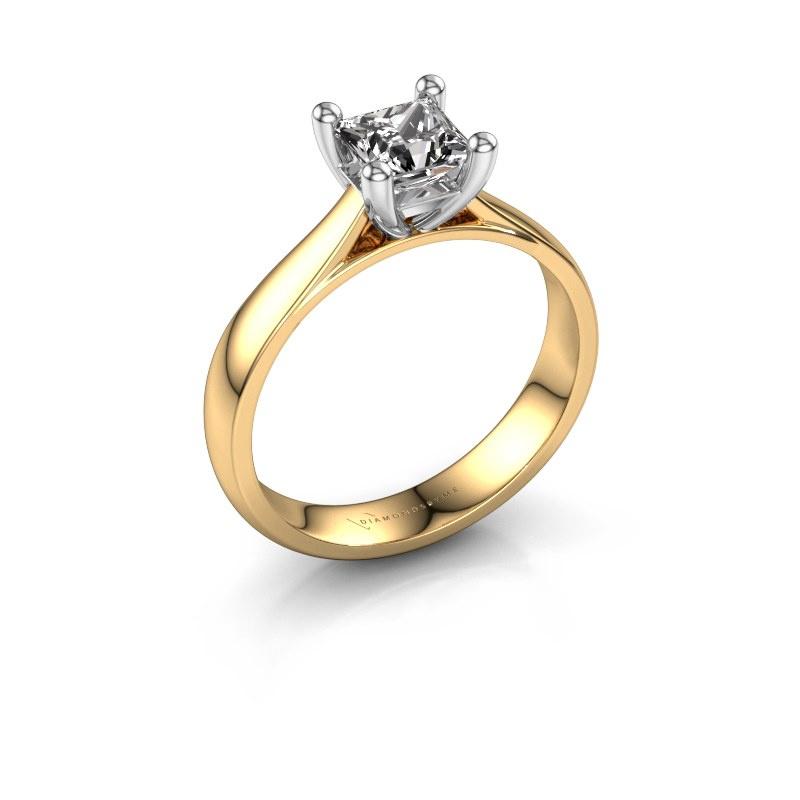 Bague de fiançailles Sam Square 585 or jaune diamant 1.00 crt