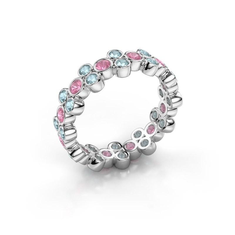 Ring Victoria 925 Silber Pink Saphir 2.4 mm