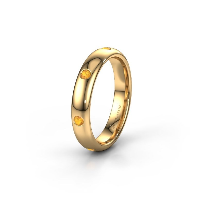 Wedding ring WH0105L34BP 375 gold citrin ±4x2 mm