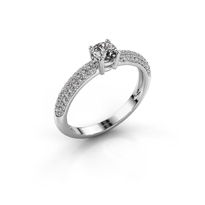 Bague de fiançailles Marjan 585 or blanc diamant 0.662 crt