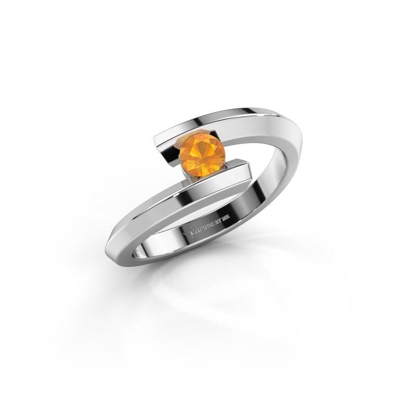 Ring Paulette 925 zilver citrien 3.4 mm