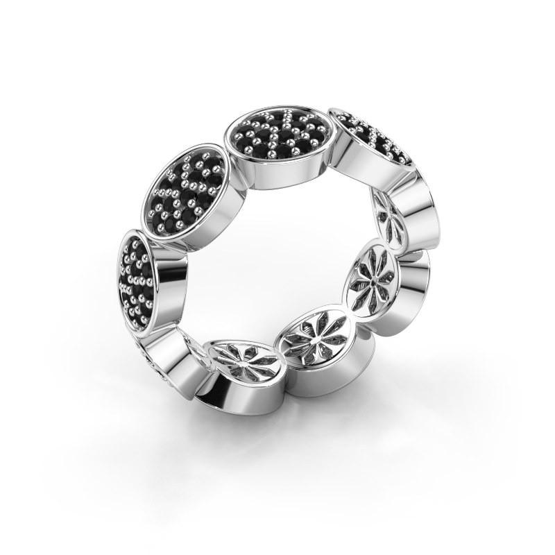 Ring Robin 950 platina zwarte diamant 1.134 crt