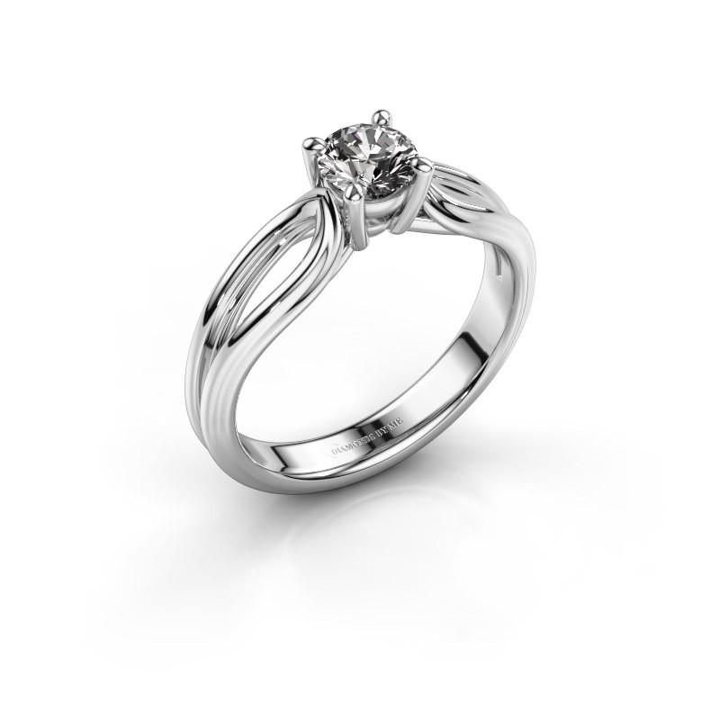 Bague de fiançailles Antonia 1 585 or blanc diamant 0.50 crt