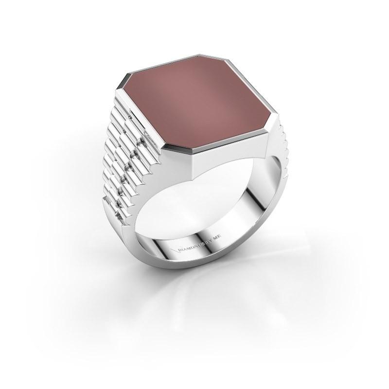 Rolex stijl ring Brent 4 950 platina carneool 16x13 mm