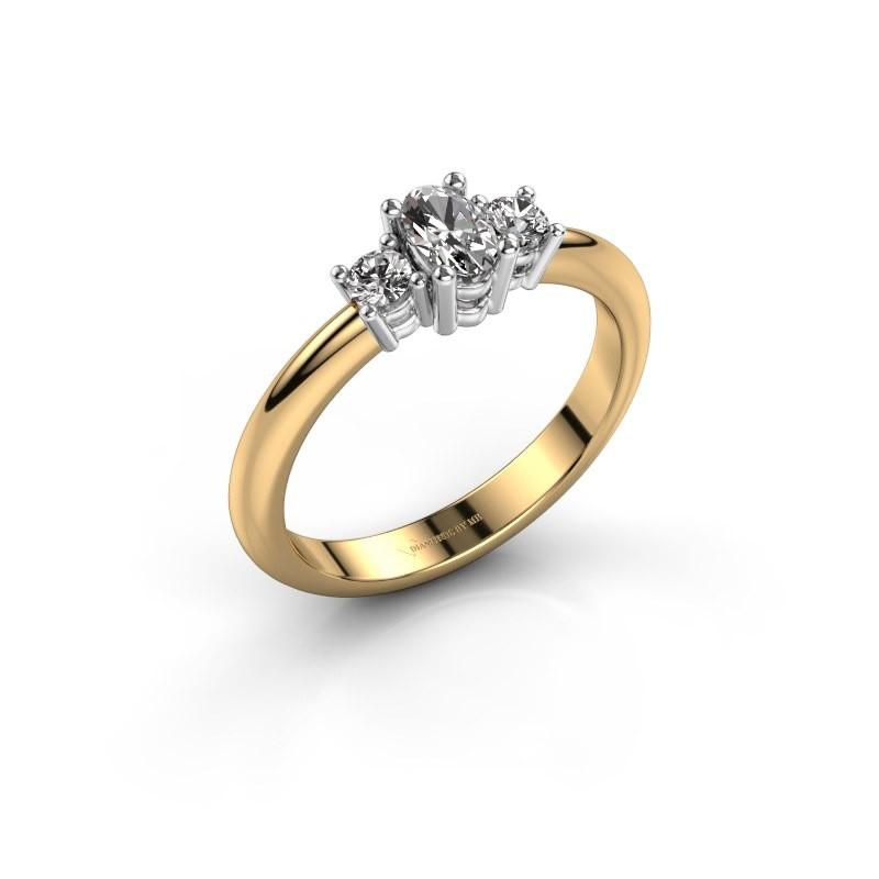 Engagement ring Karie 585 gold diamond 0.39 crt