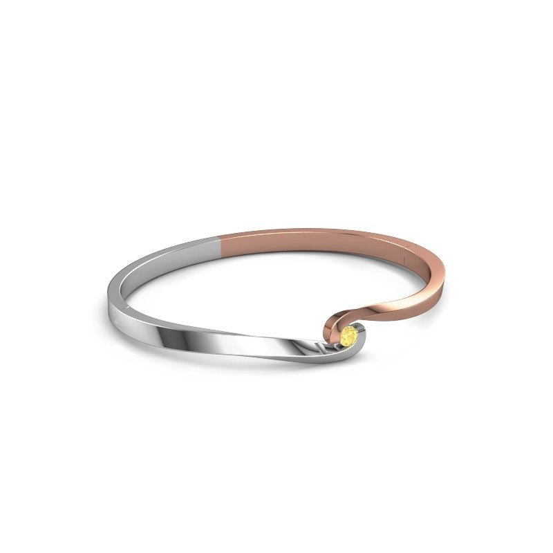 Bangle Sheryl 585 rose gold yellow sapphire 3.7 mm