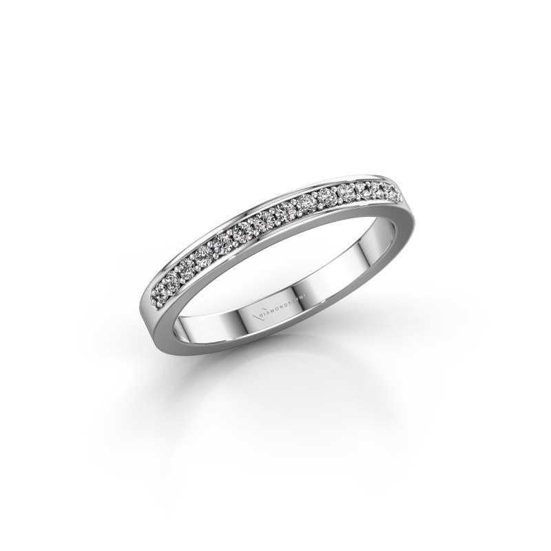 Aanschuifring SRJ0005B20H6 585 witgoud diamant 0.168 crt