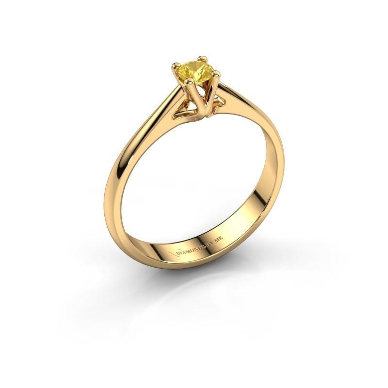 Engagement ring Janna 1 375 gold yellow sapphire 3.4 mm