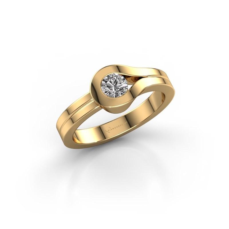 Bague Kiki 585 or jaune diamant 0.30 crt