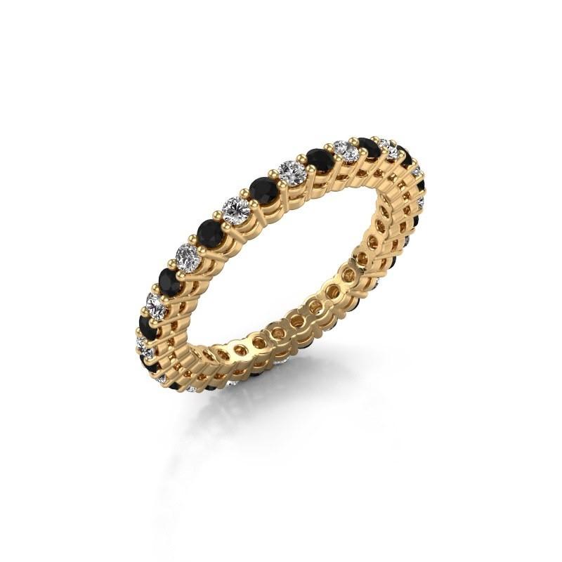 Aanschuifring Rufina 3 375 goud zwarte diamant 0.986 crt