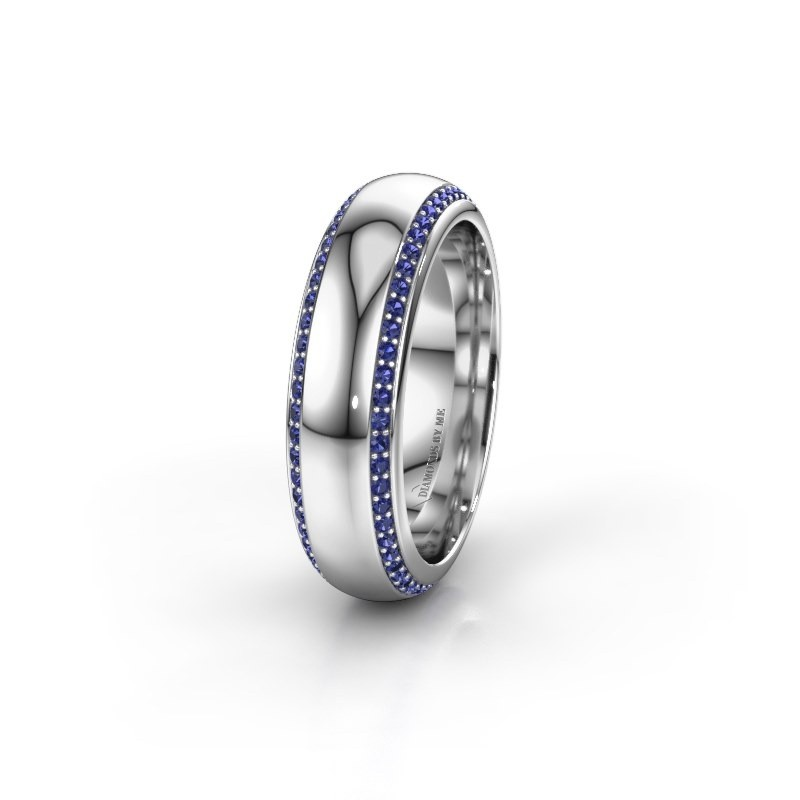 Wedding ring WH6132L36C 925 silver sapphire ±6x2.2 mm