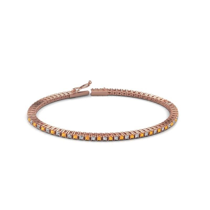 Tennis bracelet Simone 375 rose gold citrin 2 mm