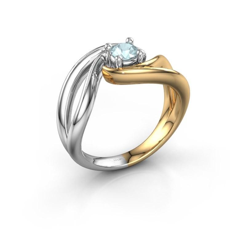 Ring Kyra 585 Gold Aquamarin 4 mm