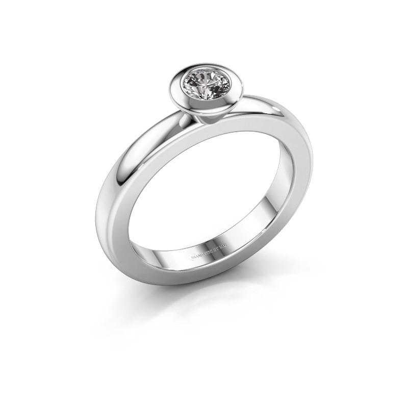 Steckring Trudy Round 925 Silber Diamant 0.25 crt