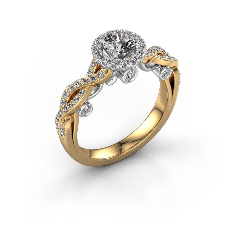 Verlobungsring Madeleine 585 Gold Diamant 0.872 crt
