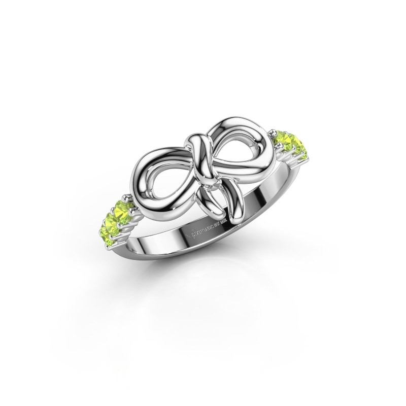 Ring Olympia 950 platinum peridot 2.2 mm