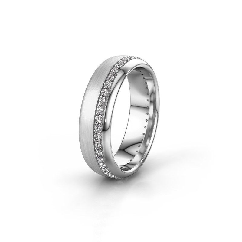 Trouwring WH0303L36BMP 585 witgoud lab-grown diamant ±6x2 mm