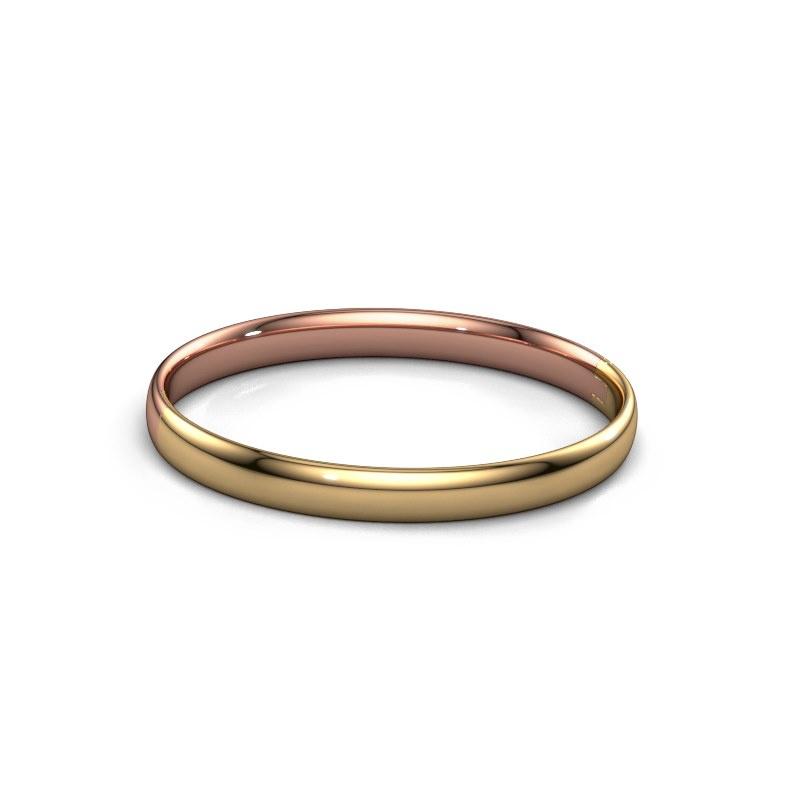 Slavenarmband Jane 7mm 585 rosé goud