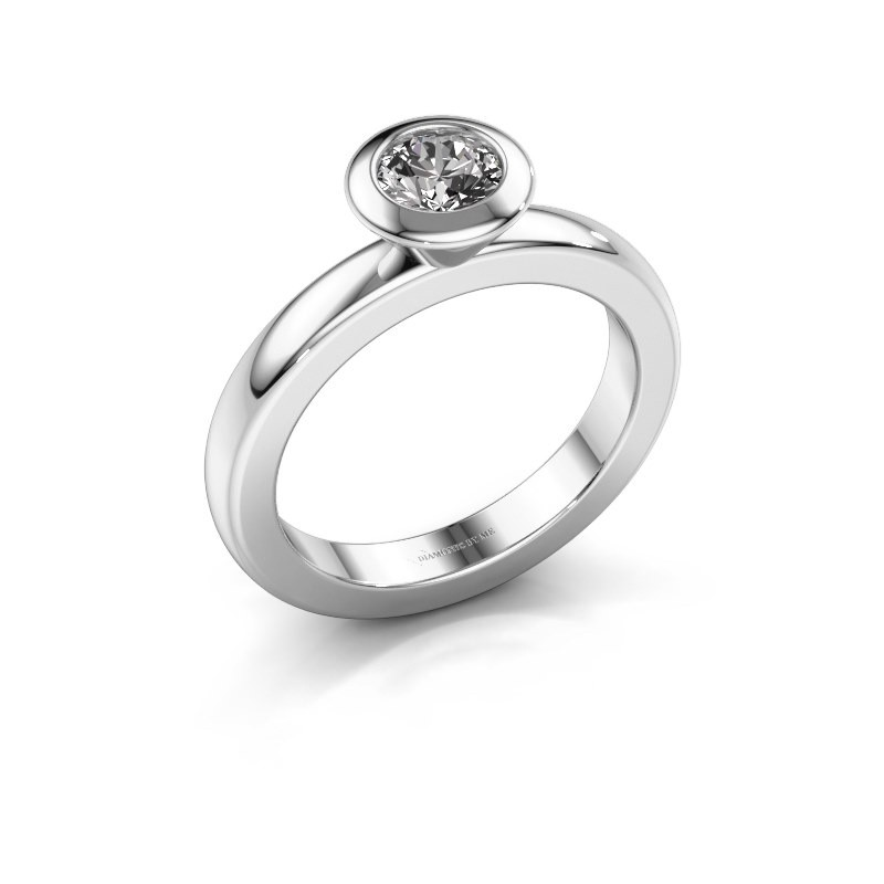 Stacking ring Trudy Round 925 silver diamond 0.50 crt