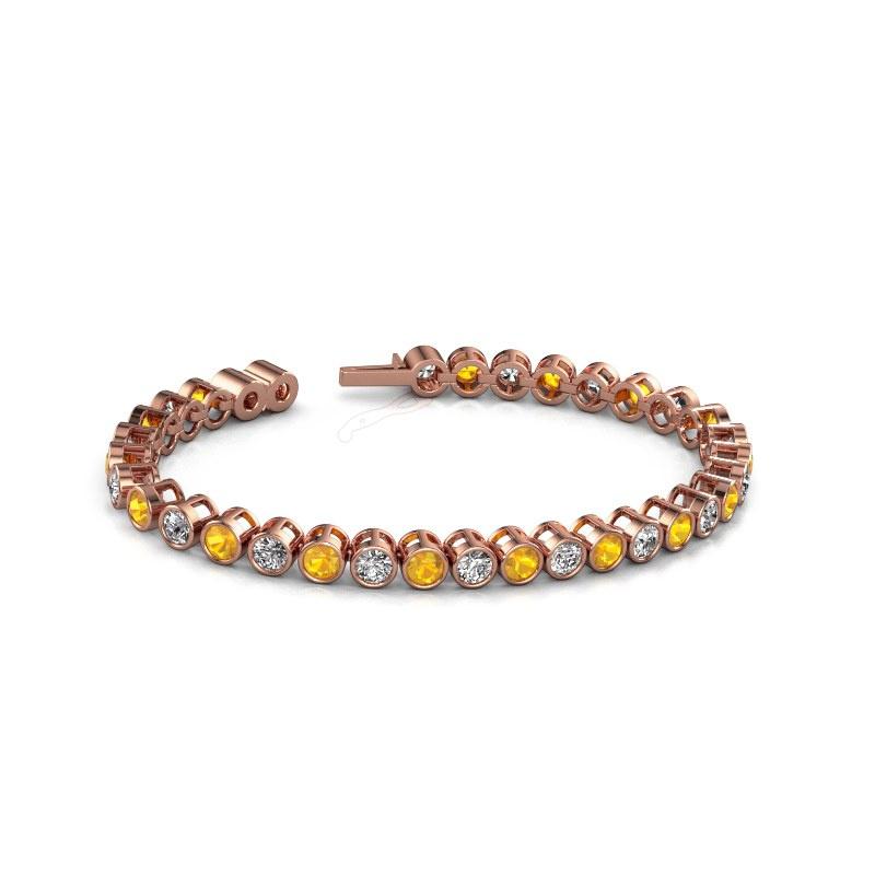 Tennisarmband Allegra 4 mm 375 rosé goud citrien 4 mm