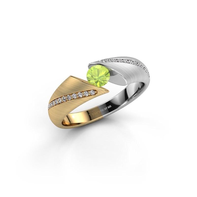 Verlovingsring Hojalien 2 585 goud peridoot 4.2 mm